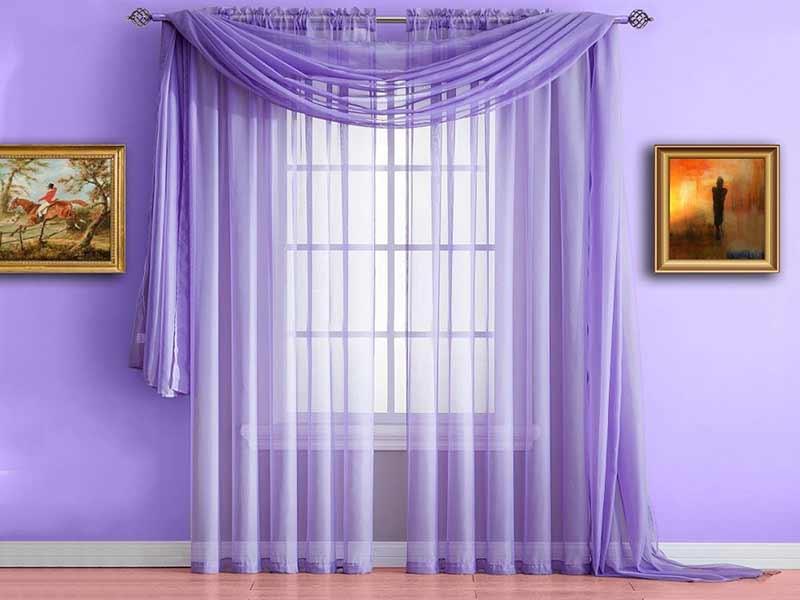 Rèm cửa màu tím lãng mạn