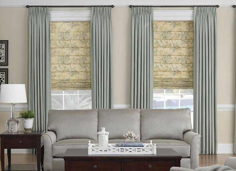 Trang trí rèm cửa sổ bằng vải cao cấp
