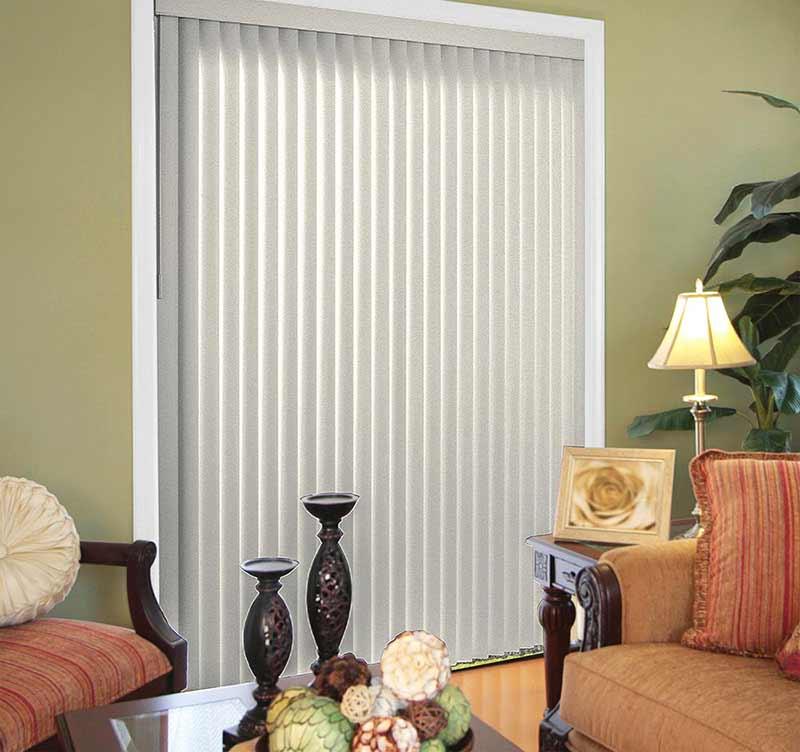 Rèm lá dọc màu xám cho văn phòng