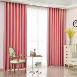Rèm vải hàn quốc màu hồng