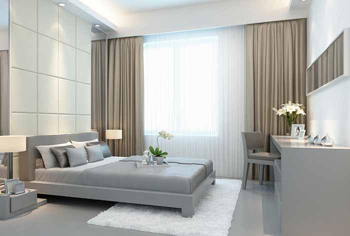 Rèm phòng ngủ phong cách hiện đại