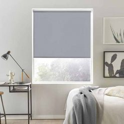 Rèm cửa sổ cuốn màu xám cho phòng ngủ RCS09