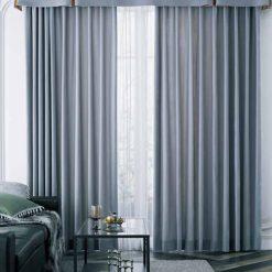 Rèm vải hiện đại giá rẻ đẹp màu xám RGR18