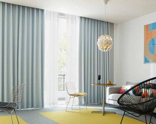 Rèm vải 2 lớp phòng khách hiện đại RPK15