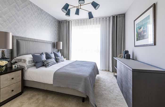 Rèm vải phòng ngủ cản sáng cách nhiệt hiện đại