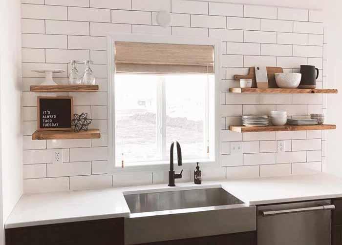 Rèm cửa nhà bếp bằng tre trúc
