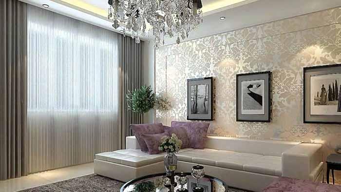 Giấy dán tường hiện đại phòng khách