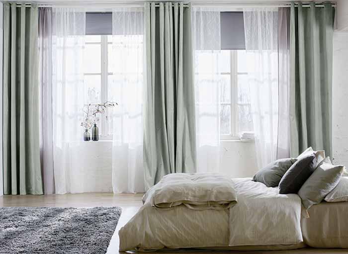 Rèm vải 2 lớp phòng ngủ sang trọng