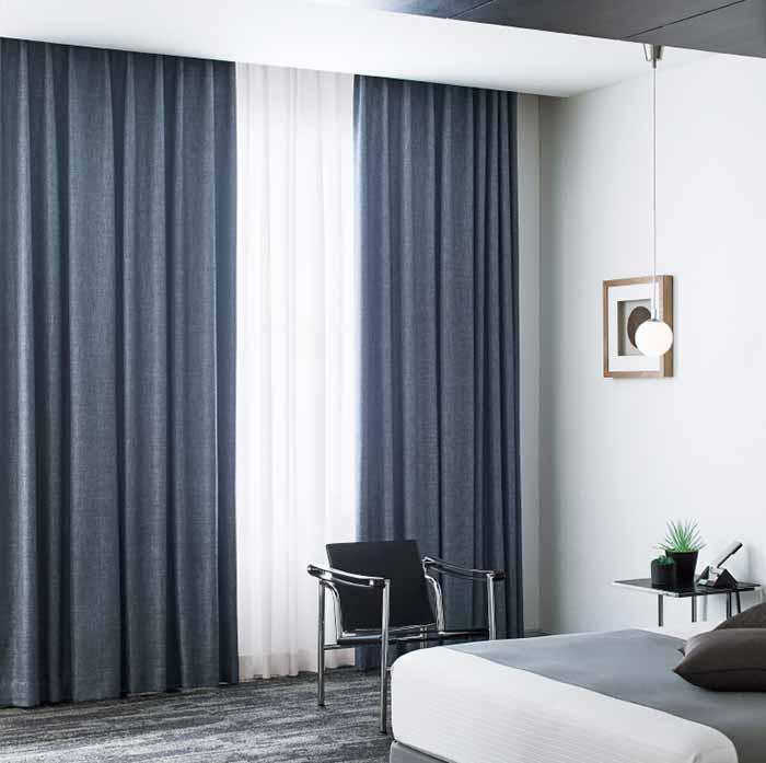Rèm vải cao cấp 2 lớp chắn sáng hiện đại