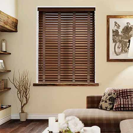 Rèm gỗ phòng khách sang trọng