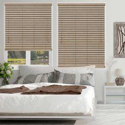 rèm gỗ cửa sổ màu trung tính