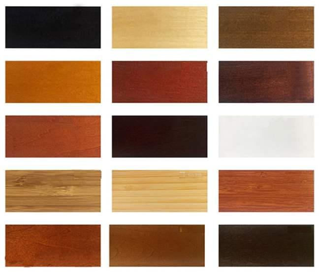 Bảng màu rèm cửa sổ gỗ đẹp
