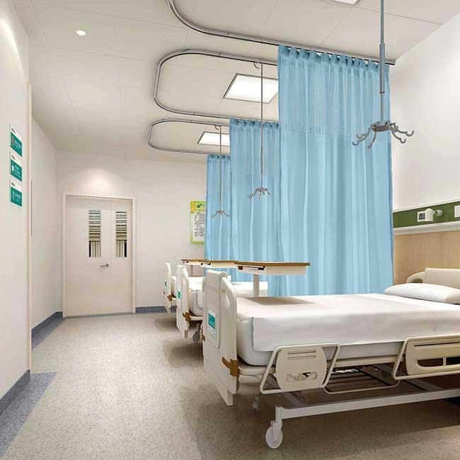 Khung treo rèm bệnh viện chữ U