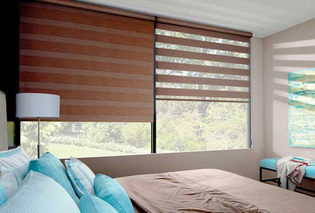 Rèm cầu vồng cửa sổ phòng ngủ hiện đại